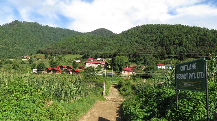 Way to Chitlang Resort