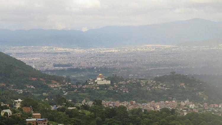 Kathmandu valley from Pharping