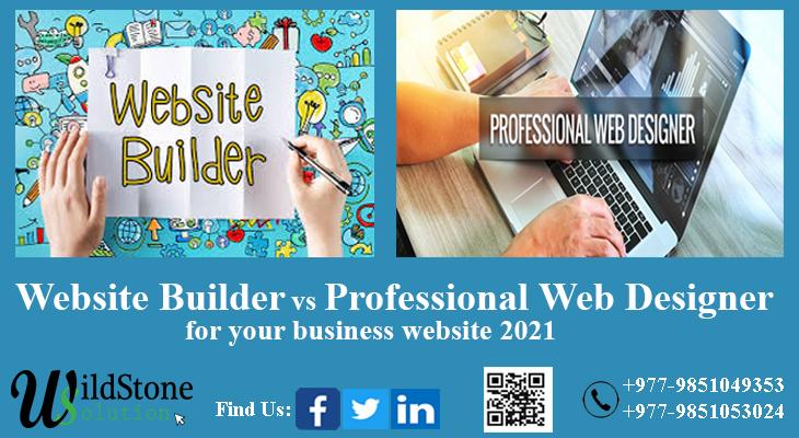 Using website builders vs. hiring professional web designers for your business website