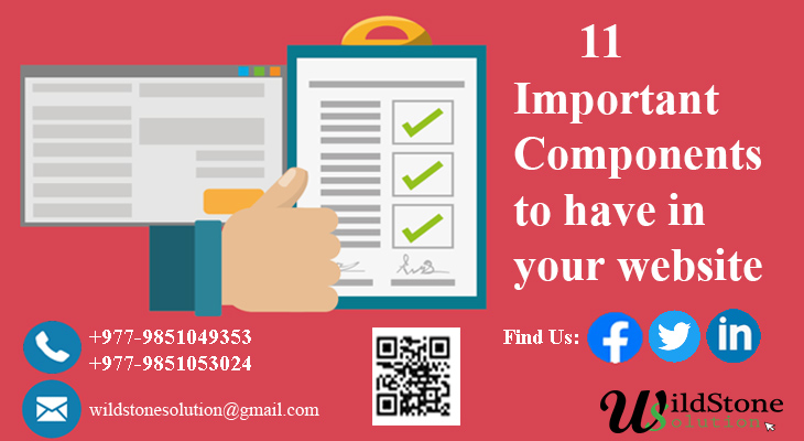 11 Important components to have in your business website